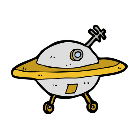 flying saucer: cartoon flying saucer
