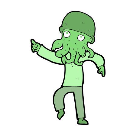 cartoon alien: cartoon alien man dancing
