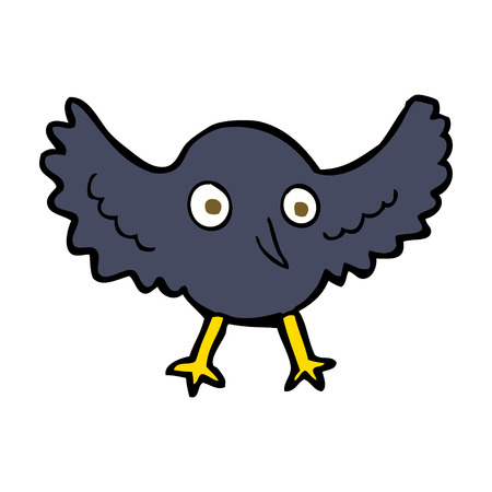 cartoon crow Vector