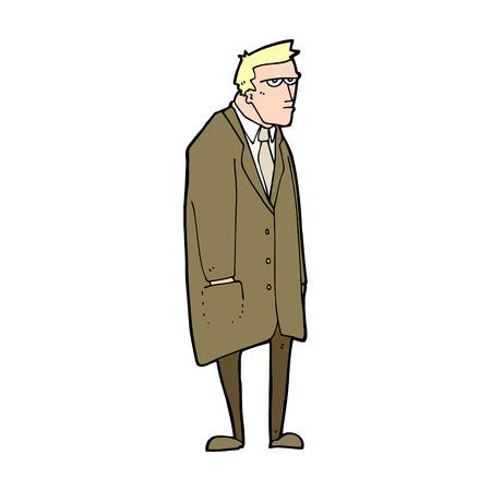tempered: cartoon bad tempered man Illustration