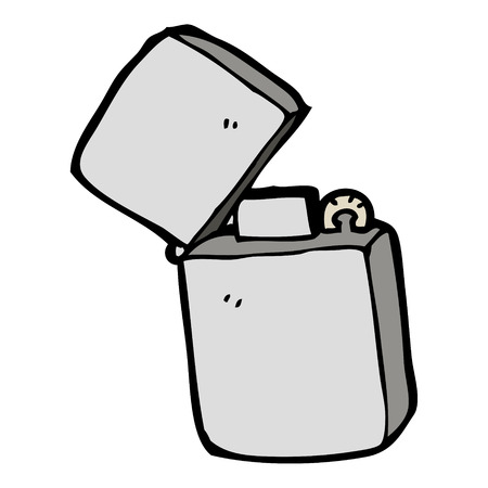 ljusare: cartoon metal lighter