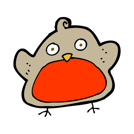 christmas robin: cartoon christmas robin