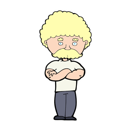 cartoon dad: cartoon dad with folded arms