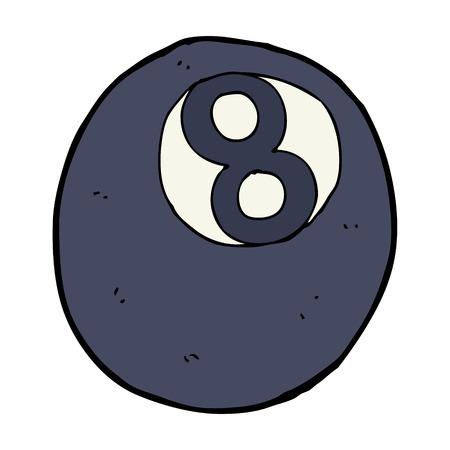 bola ocho: dibujos animados de ocho bolas