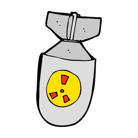 cartoon atom bomb Stock Vector - 24799563