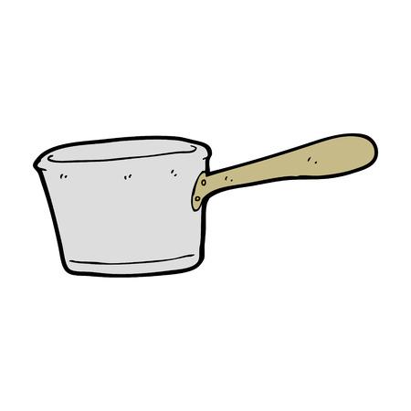 cartoon kitchen: cartoon kitchen pan Illustration
