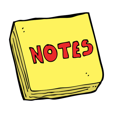 cartoon notes pad Vector