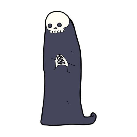 necromancer: cartoon halloween ghoul