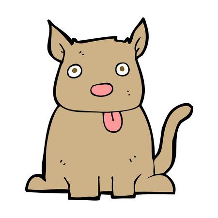 sticking: cartoon dog sticking out tongue