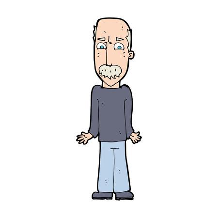 cartoon dad: cartoon dad shrugging shoulders