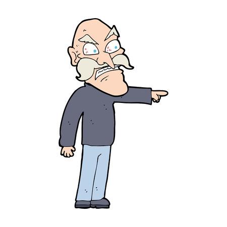 furious: caroton furious old man Illustration