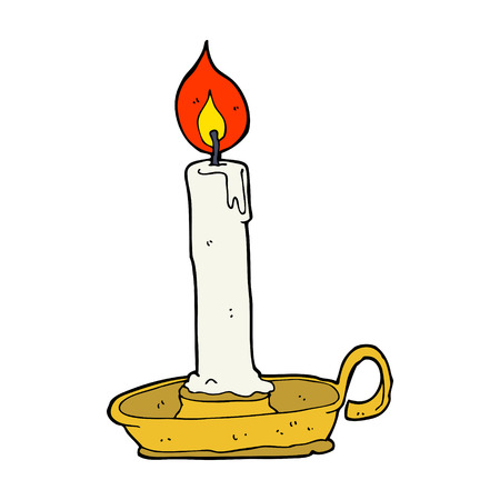 cartoon old candlestick Vector