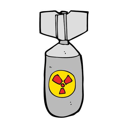 cartoon nuclear bomb Stock Vector - 24800372