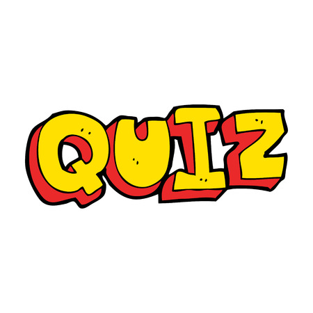 kwis: cartoon quiz teken Stock Illustratie