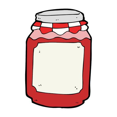 cartoon jar of jam Vector