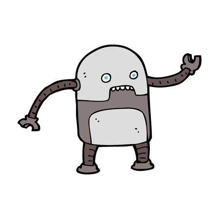 robot caricatura: robot de dibujos animados divertido
