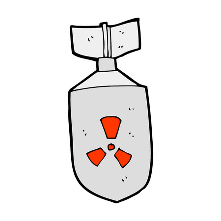 cartoon nuclear bomb Vector