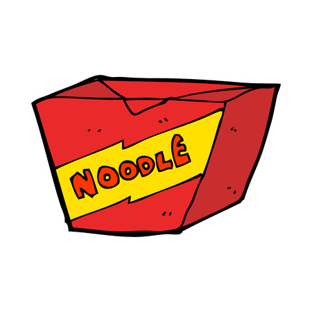 cartoon noodle box Vector