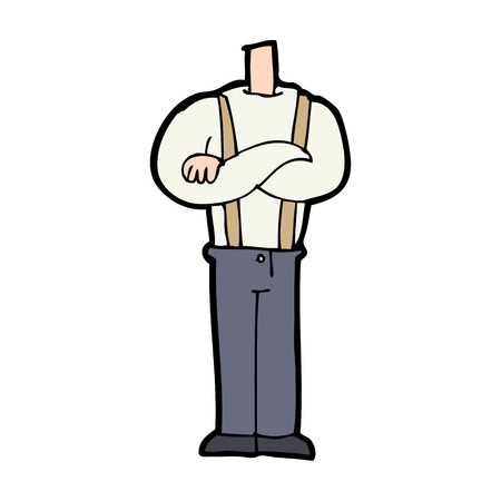 cartoon body with folded arms (mix and match cartoons or add own photos) Vector
