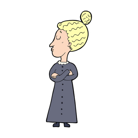 cartoon strict victorian teacher Stock Vector - 24801117