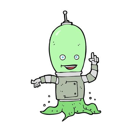 invader: cartoon alien spaceman Illustration