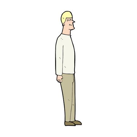 uomo alto: cartone animato uomo alto Vettoriali