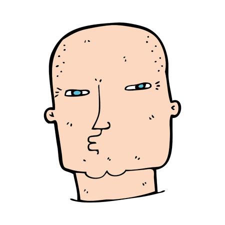 tough: cartoon bald tough guy Illustration