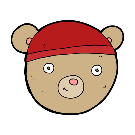 cartoon teddy bear head Illustration