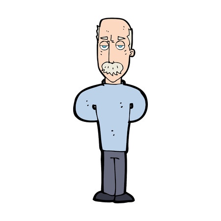 balding: cartoon annoyed balding man Illustration