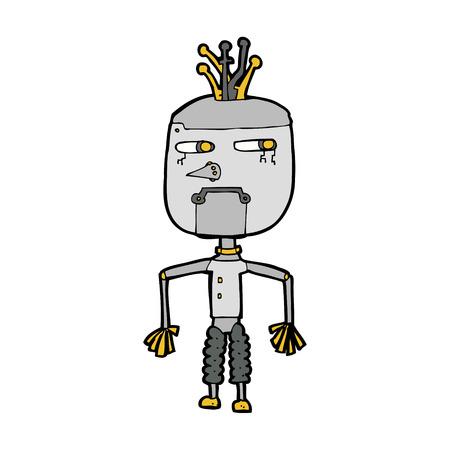 robot caricatura: dibujos animados robot Vectores