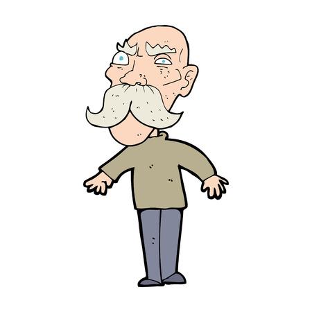 caroton angry old man Vector