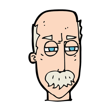 cartoon annoyed old man Vector