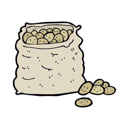 cartoon sack of potatoes Vector