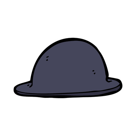 bowler hat: cartoon old bowler hat