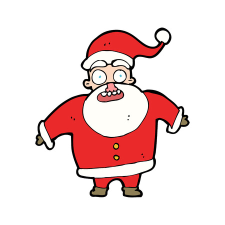 cartoon shocked santa claus Vector