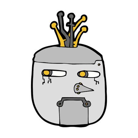 robot head: cartoon robot head