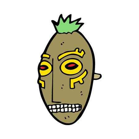 maschera tribale: cartone animato maschera tribale Vettoriali