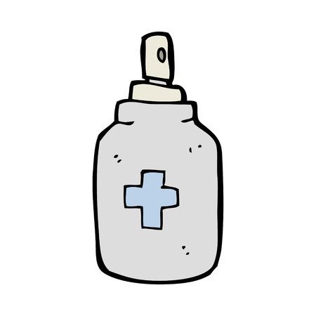 antiseptic: cartoon antiseptic spray Illustration