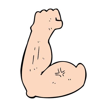 flexing: flexing bicep cartoon Illustration