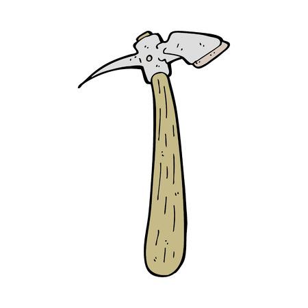 pick axe: cartoon pick axe Illustration