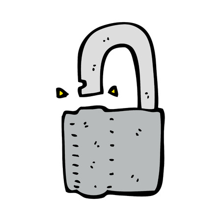 cymbol: cartoon padlock