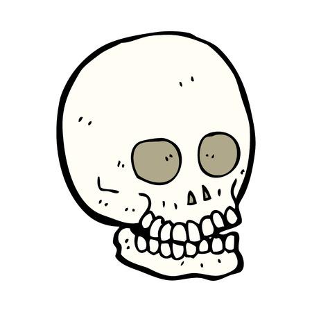 calavera caricatura: dibujos animados cr�neo
