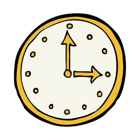 símbolo del reloj de la historieta