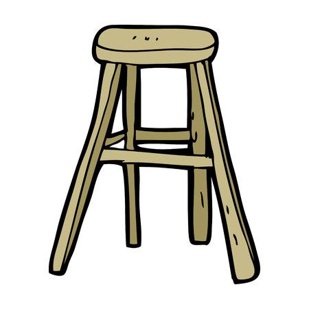 wooden stool: cartoon wooden stool Illustration