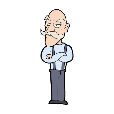 disapproving: fumetto annoiato vecchio