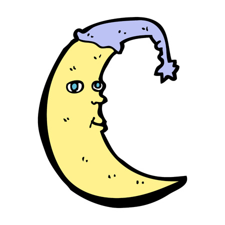 luna caricatura: historieta de la luna so�olienta