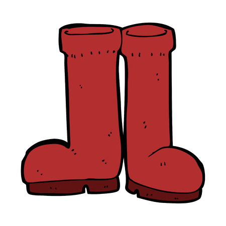 rubber: cartoon rubber boots Illustration