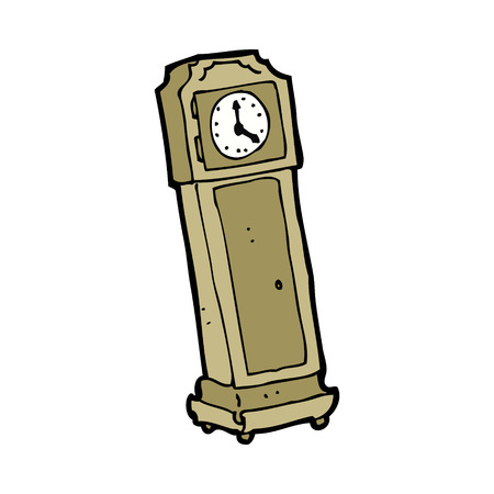 cartoon grandfather clock Vector