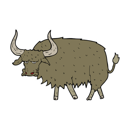 annoyed: cartoon annoyed hairy cow