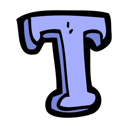cartoon letter T Vector